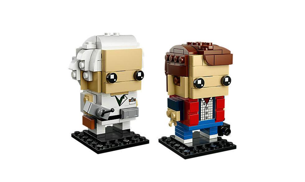 Marty McFly och Doc Brown i Legoform