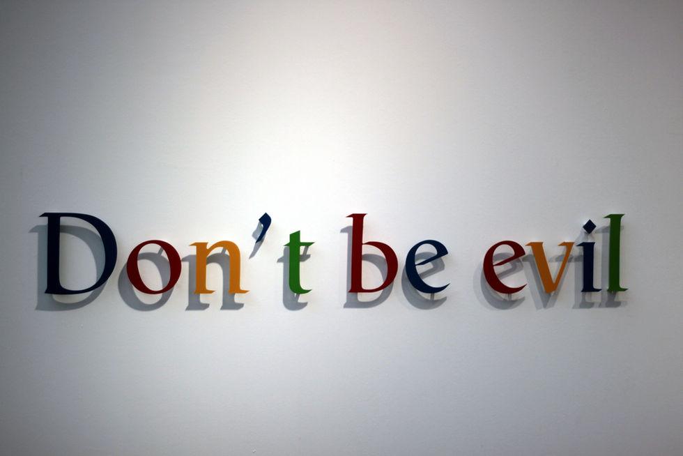 Google har fimpat 'Don't be evil'