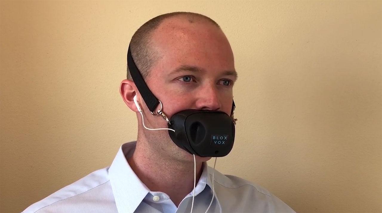 Bloxvox hjälper gaphalsar att prata i telefon tystare