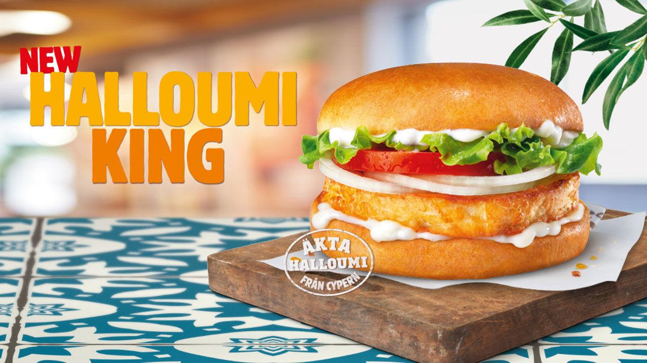 Nu börjar även Burger King med halloumiburgare