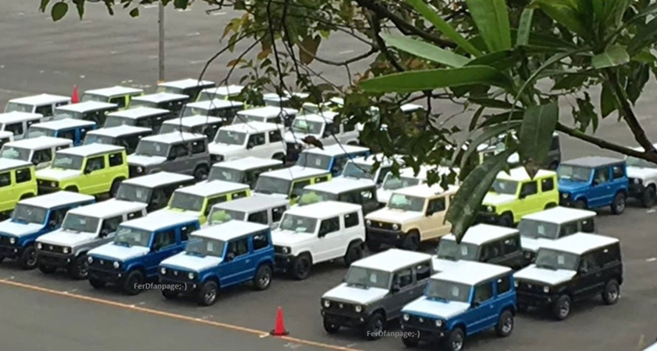 Nya Suzuki Jimny fångad utan maskering