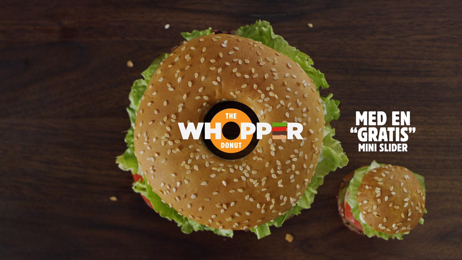 Burger King gör donut av Whopper