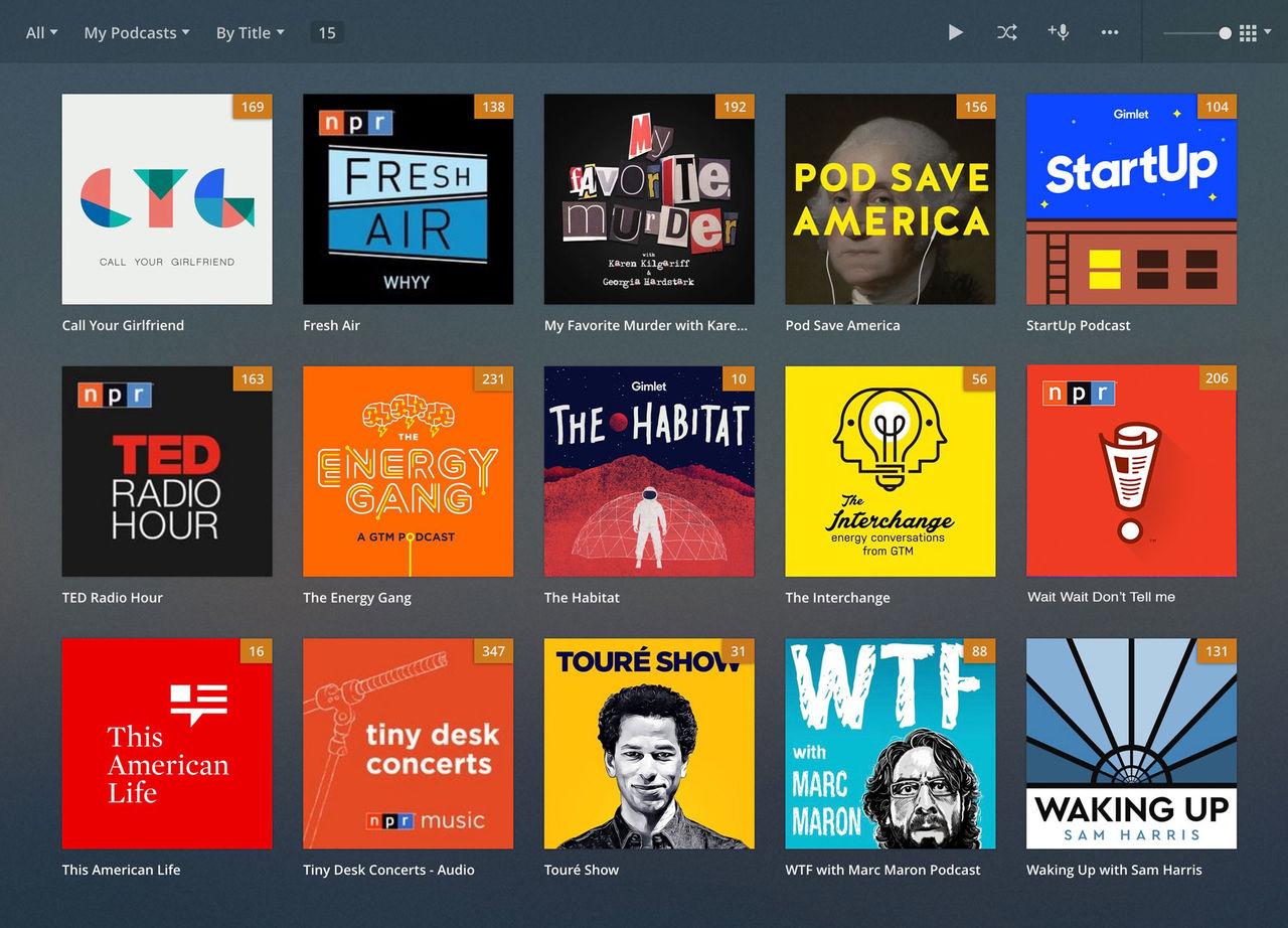Plex får stöd för podcasts