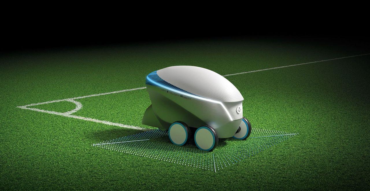 Pitch-R är en robot som kan måla linjer på fotbollsplaner