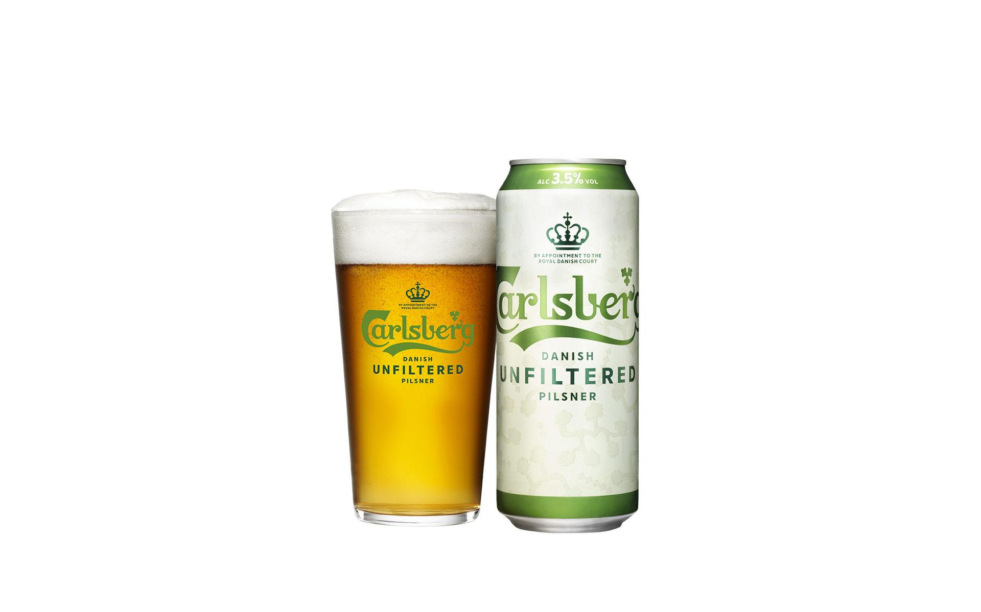 Carlsberg lanserar en ofiltrerad lager