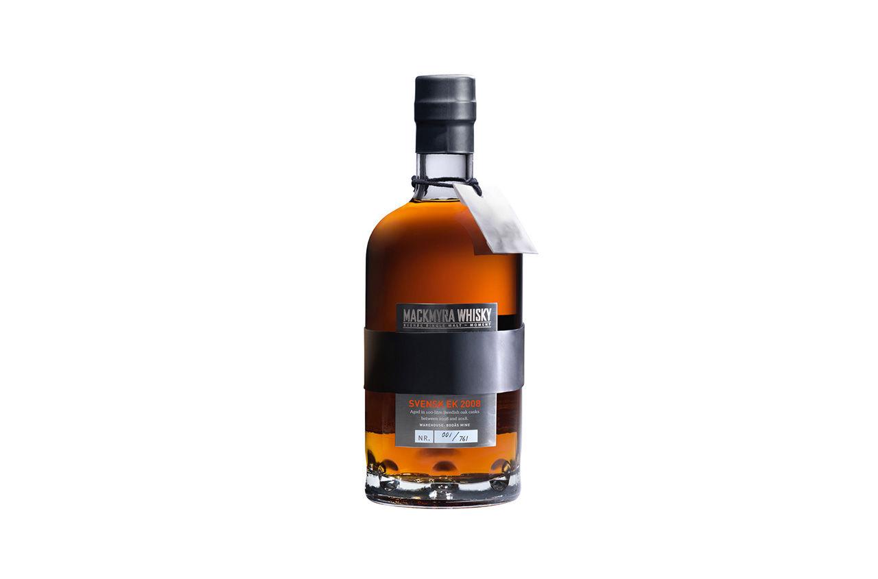 Whisky som lagrats på svensk ek