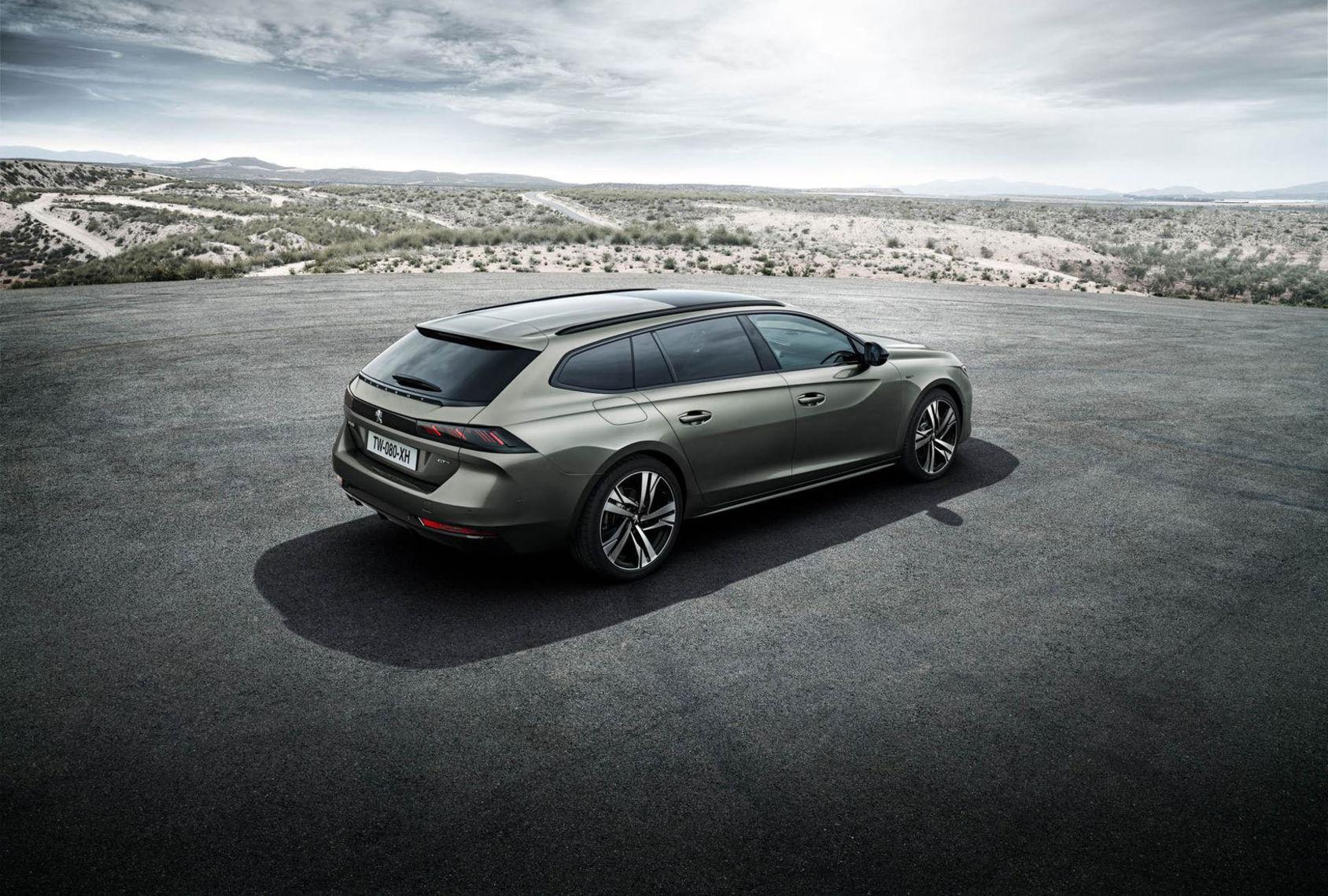 Det här är kombiversionen av Peugeot 508