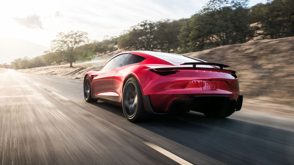 Tesla Roadster i SpaceX-version kommer med tio raketer