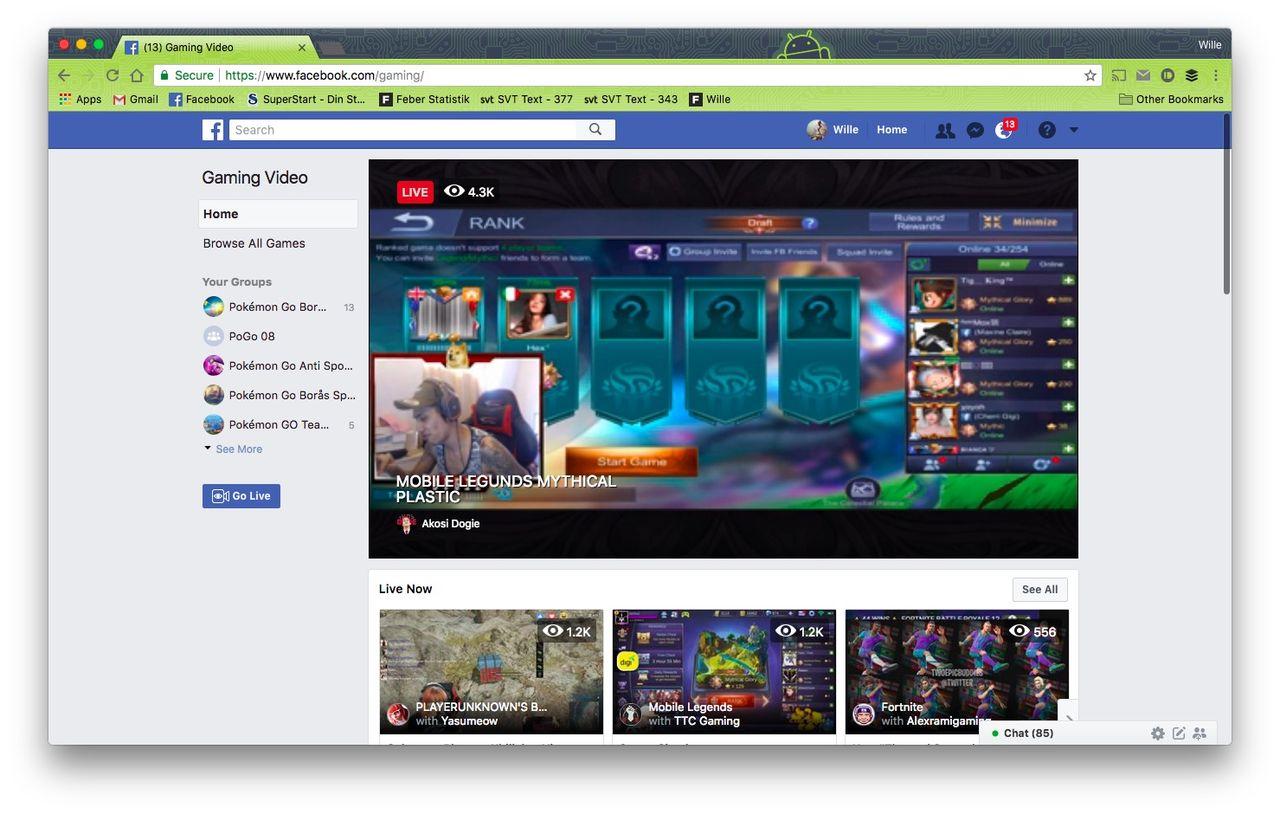 Facebook lanserar streaming-portal för spel