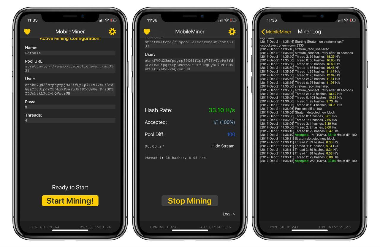 Appar som gräver kryptovalutor portas från App Store