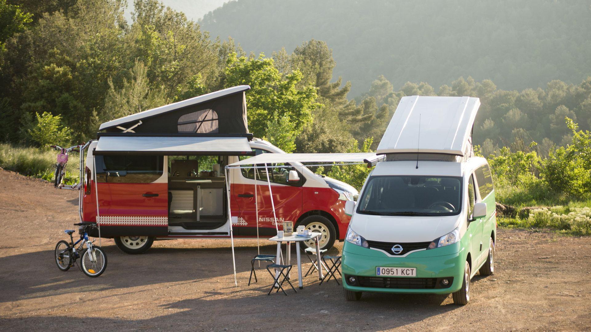 Campa med Nissans e-NV200 eller NV300