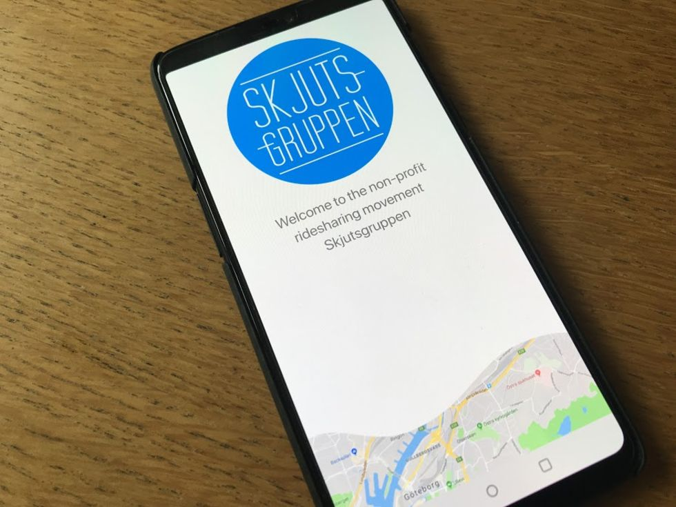 Skjutsgruppen släpper app