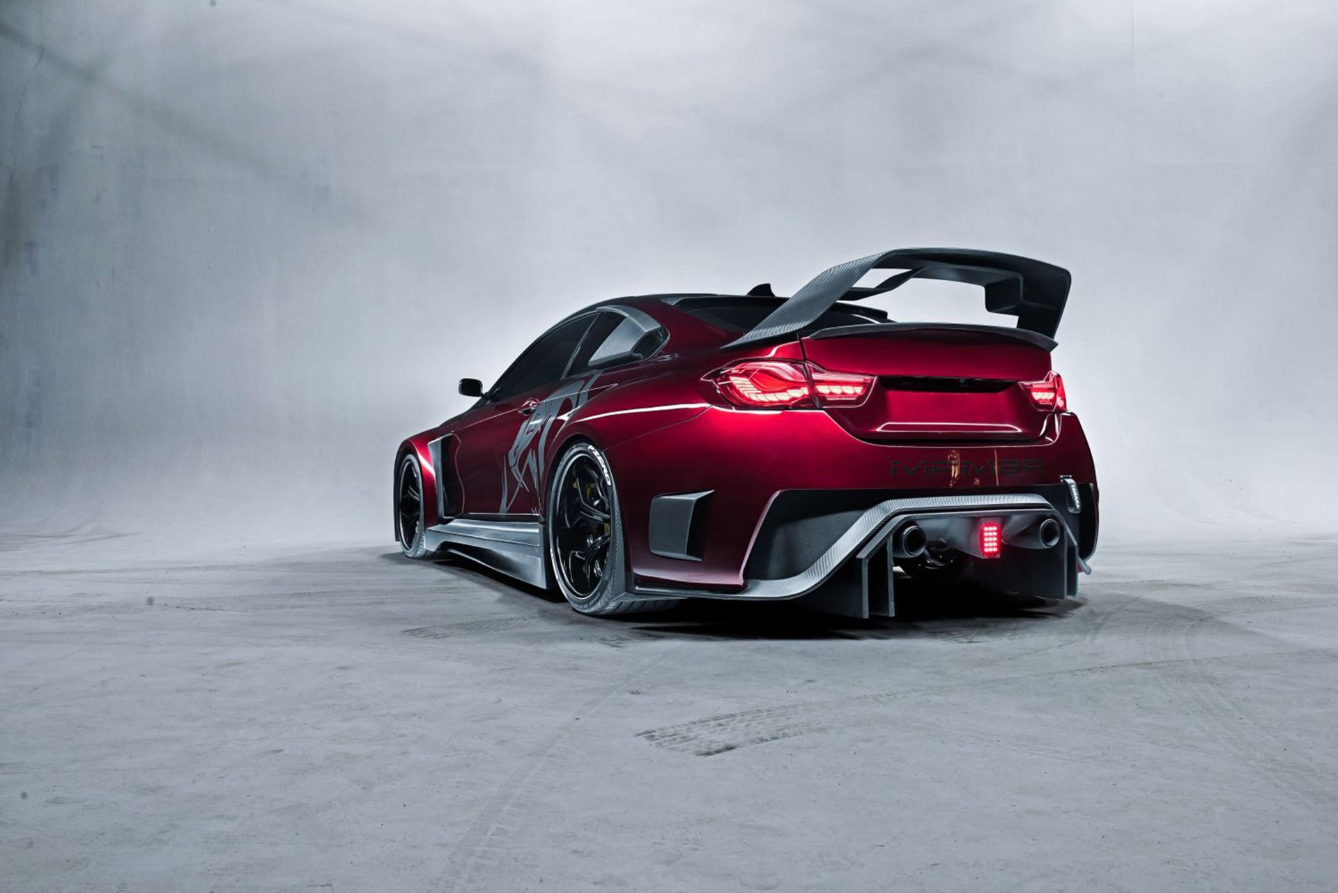 Den här specialbyggda BMW M4:an är för bred