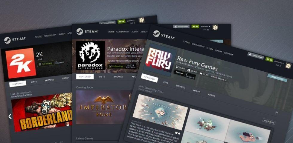 Utvecklare får egna profilsidor på Steam