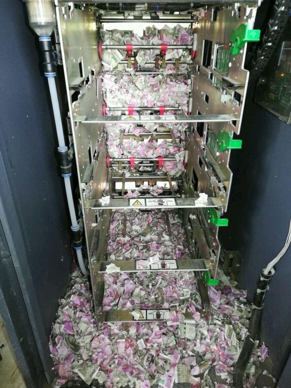 Råtta bröt sig in i indisk bankomat