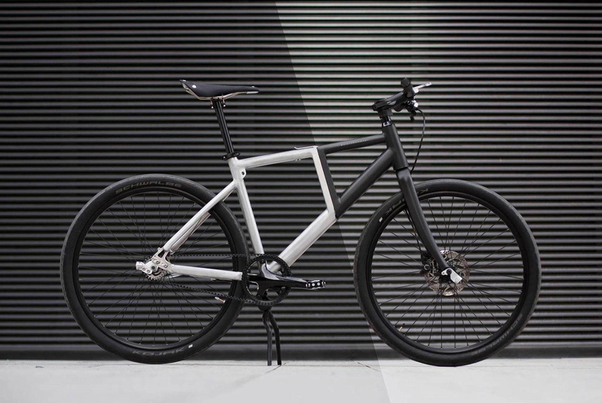 Snygg cykel som går att fälla ihop