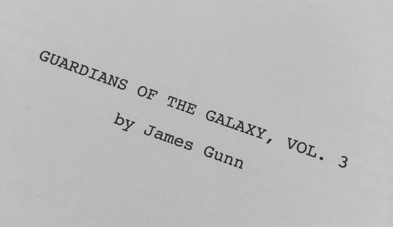 Manus för Guardians of the Galaxy Vol 3 är färdigskrivet