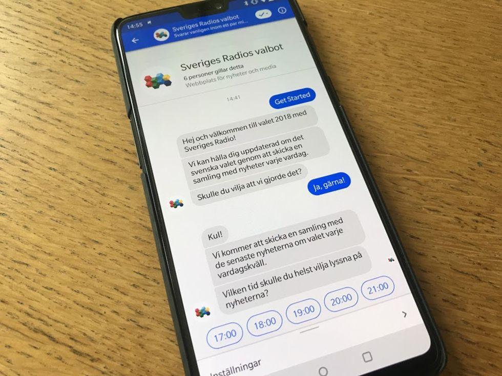 Sveriges Radio lanserar Messenger-bot inför valet
