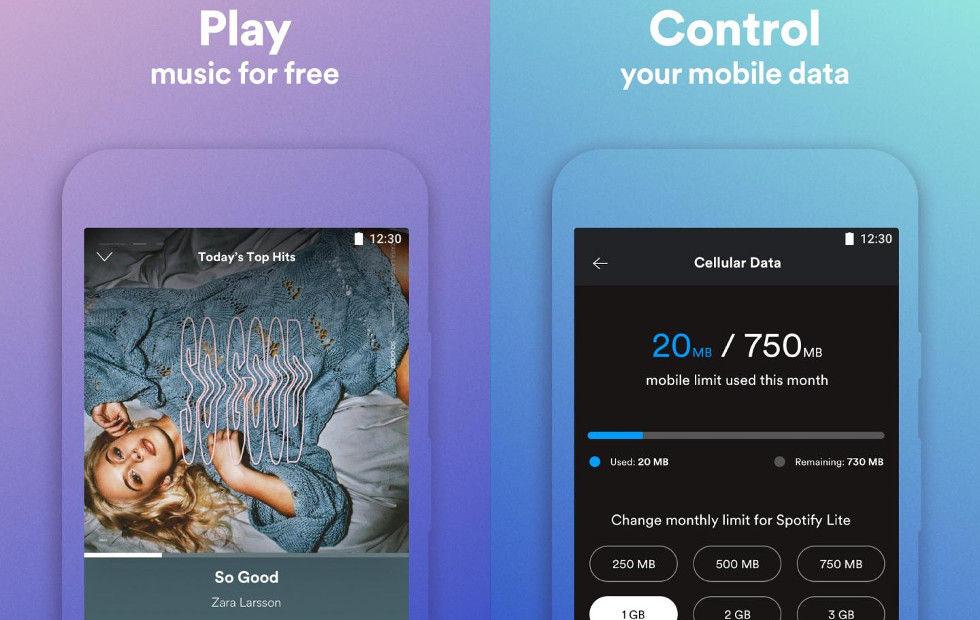 Spotify släpper lite-version