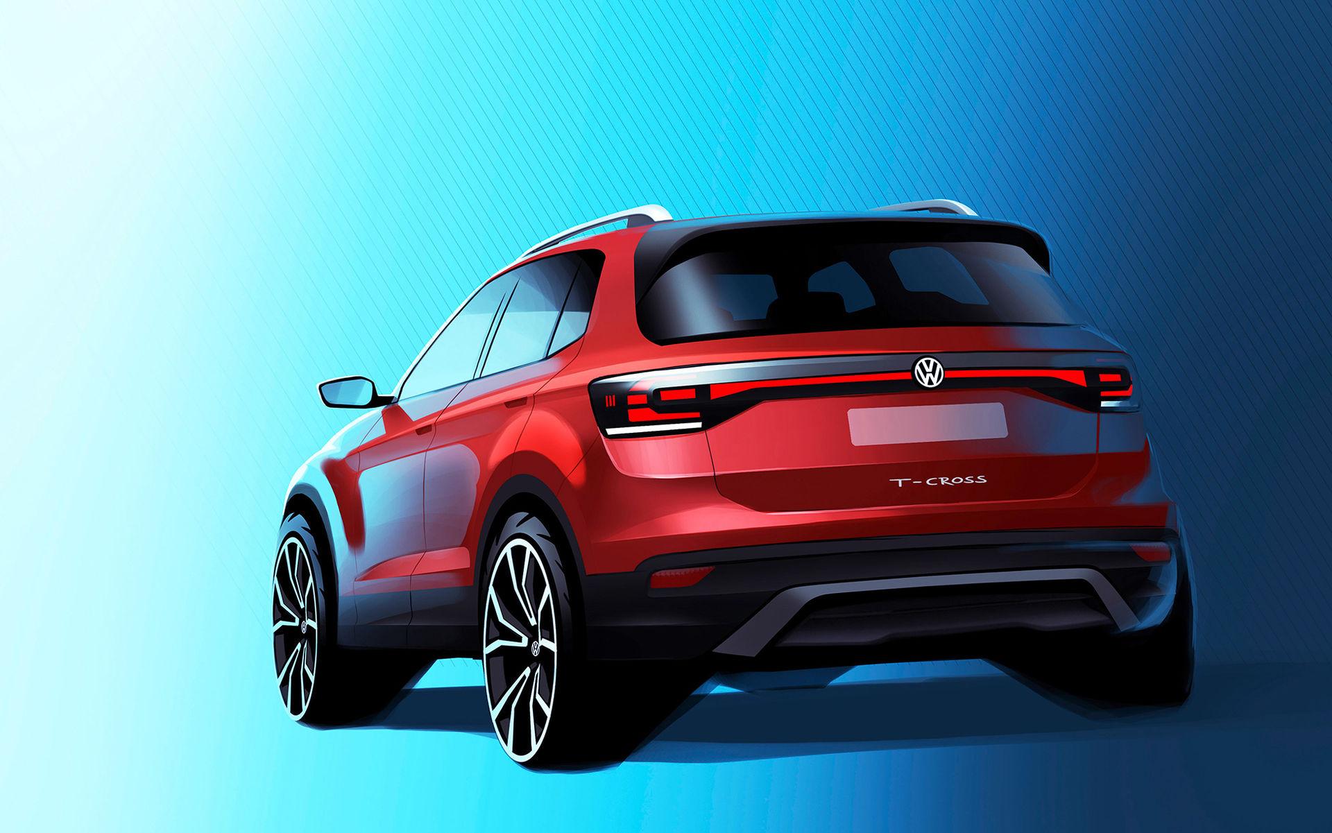 I höst har Volkswagens kompaktsuv T-Cross premiär
