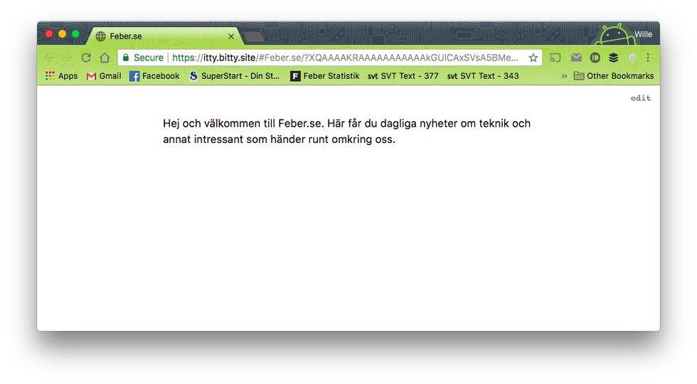 Nu kan man skapa en webbsajt som lagras i en URL