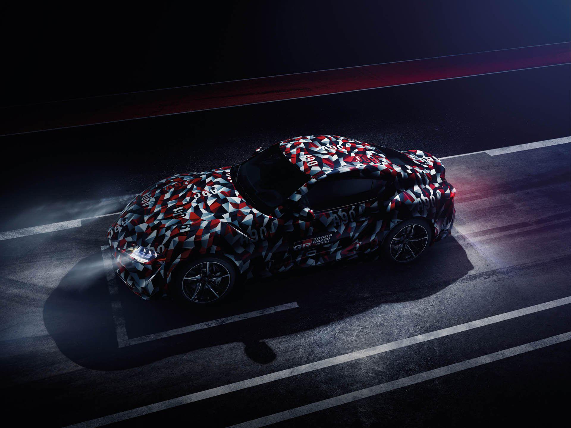 Toyota släpper nya teaserbilder på kommande Supran