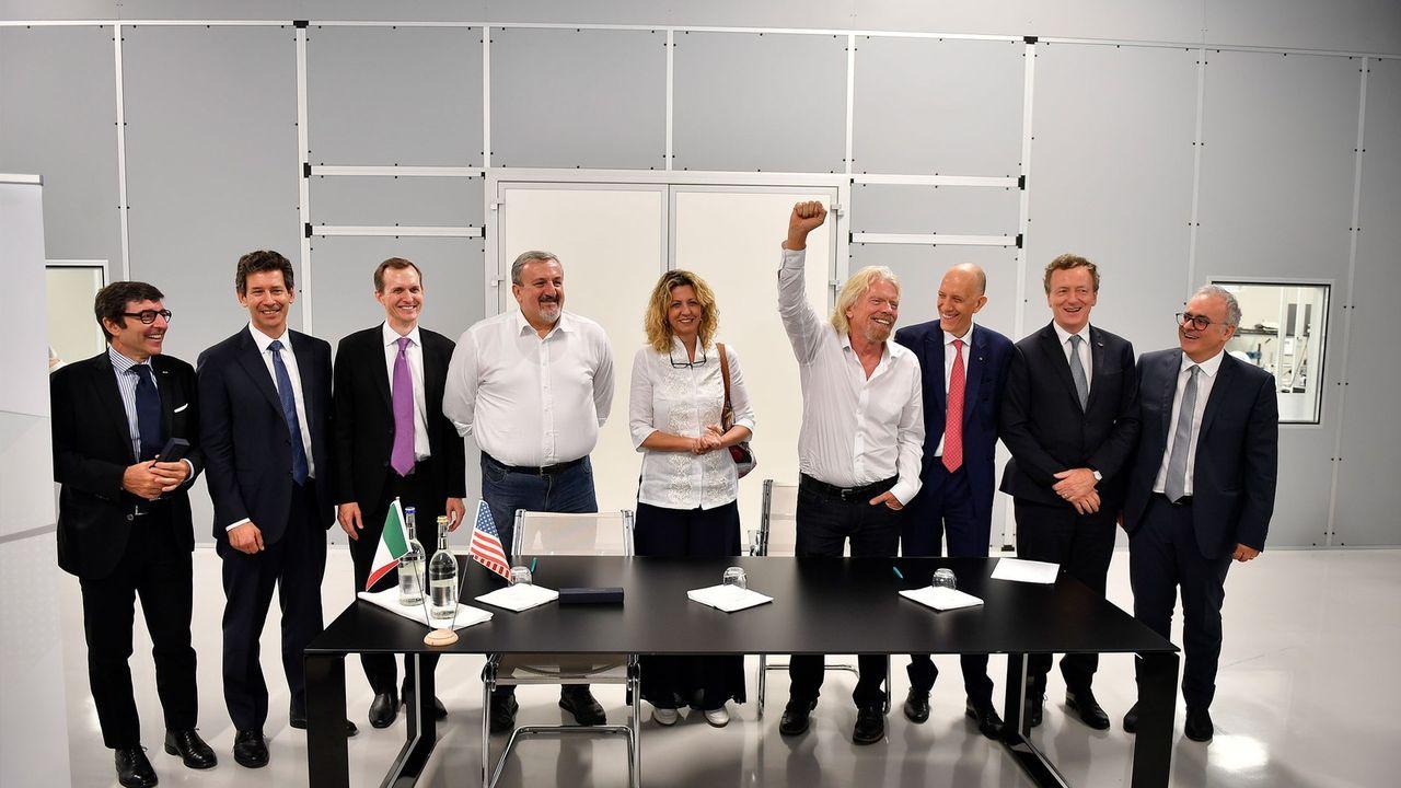 Virgin Galactic ska flyga rymdturister från rymdbas i Italien