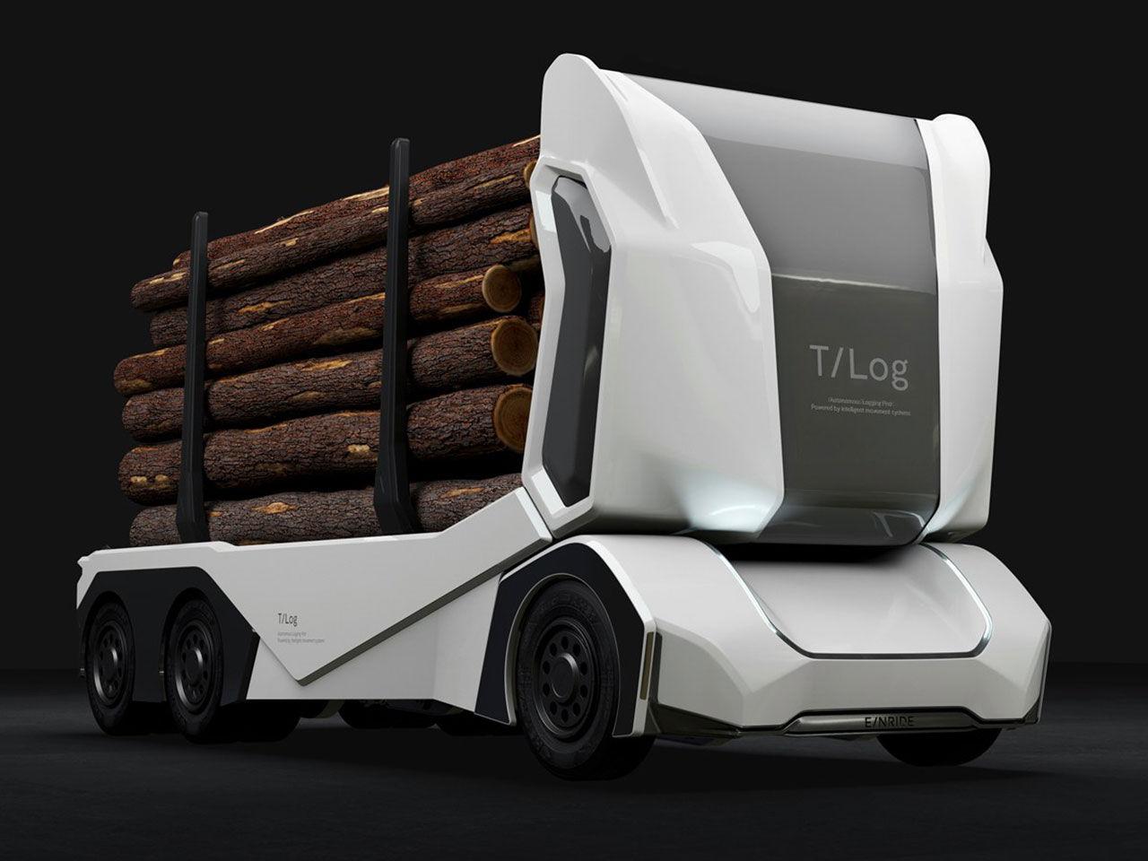 Einride presenterar en eldriven och självkörande timmerbil