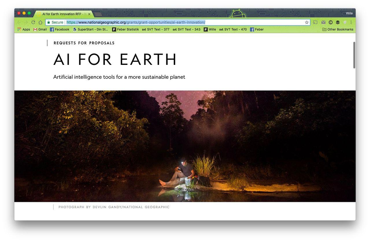 Microsoft och National Geographic letar AI-projekt