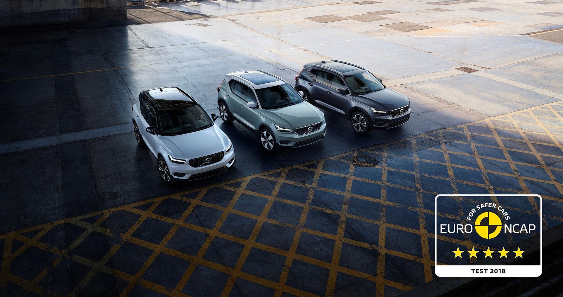 Fem stjärnor till Volvo XC40 av Euro NCAP