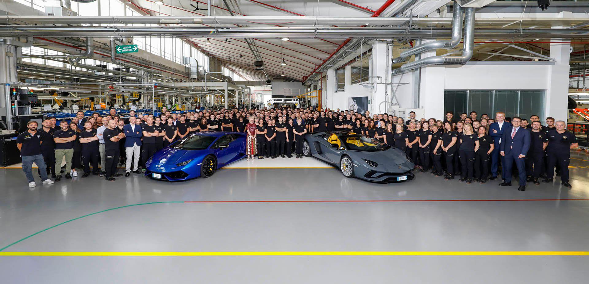 Lamborghini har nu tillverkat 8.000 stycken Aventador