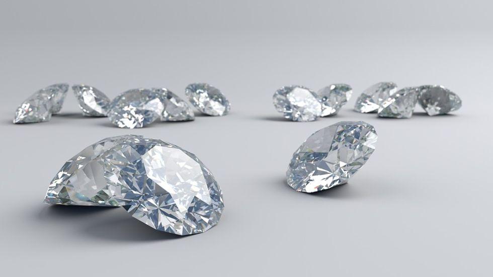 Diamanter inte så ovanliga som man trott
