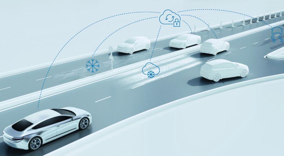Bosch presenterar assistanssystem för självkörande bilar
