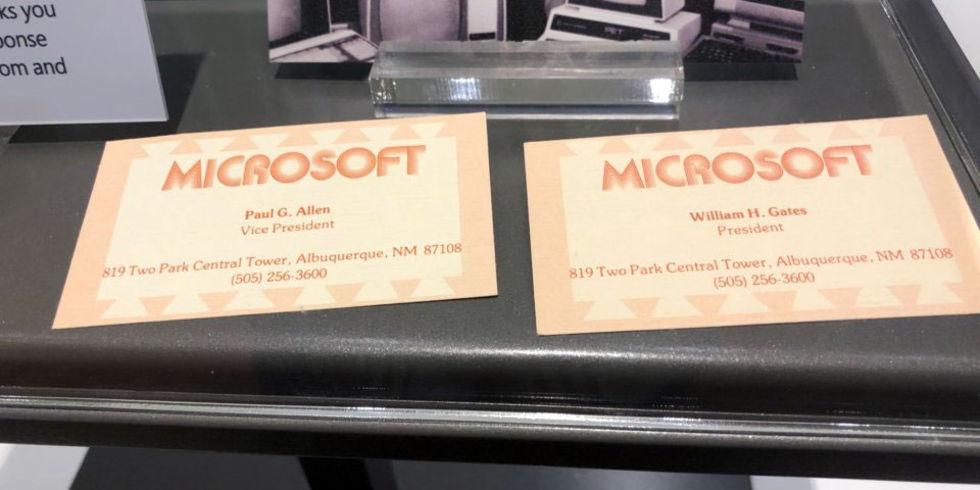 Så här såg Bill Gates första visitkort ut