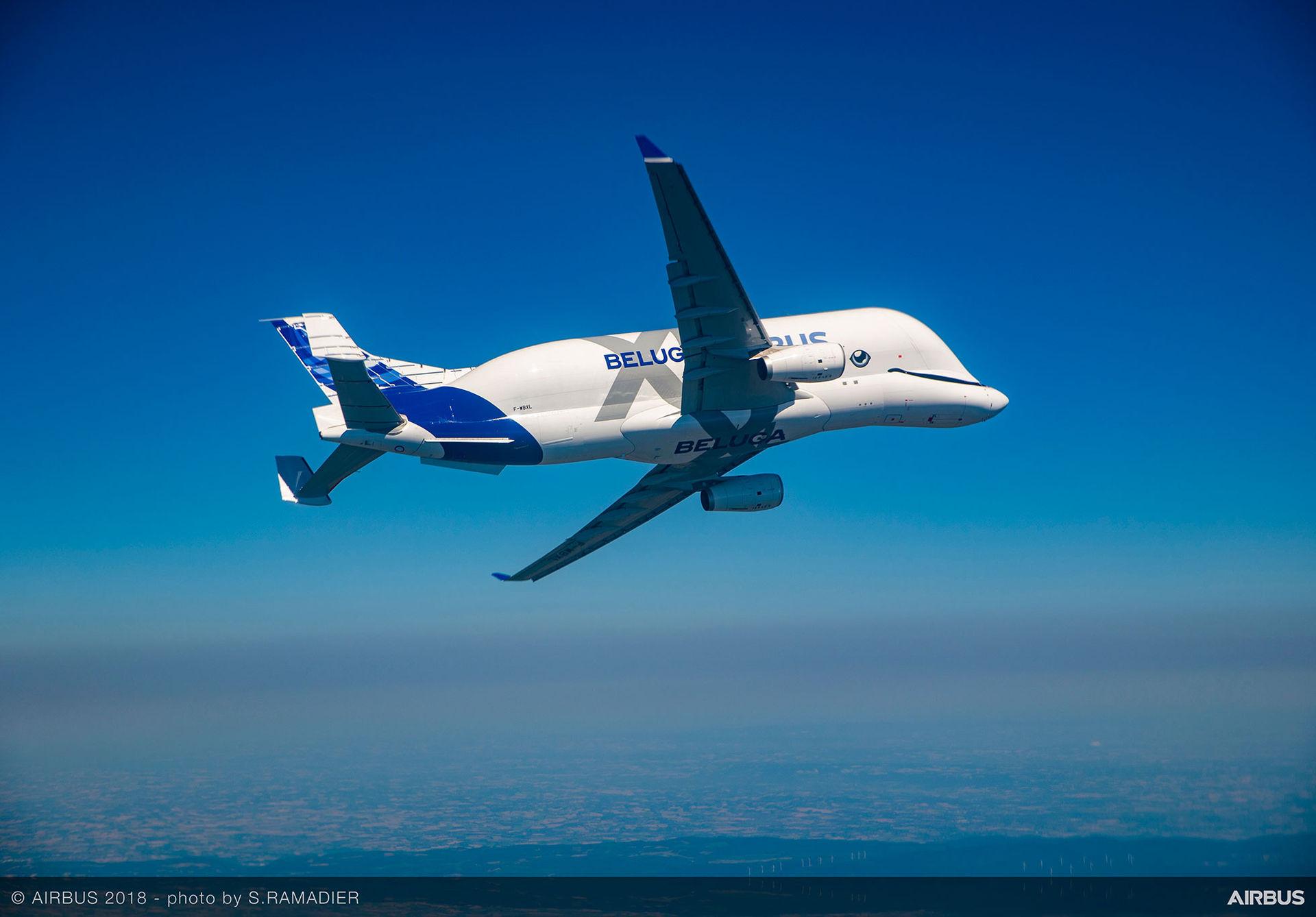 Airbus BelugaXL har flugit för första gången