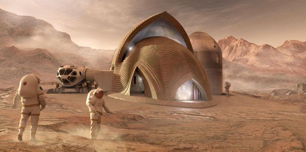 NASA visar upp framtida Mars-bostäder