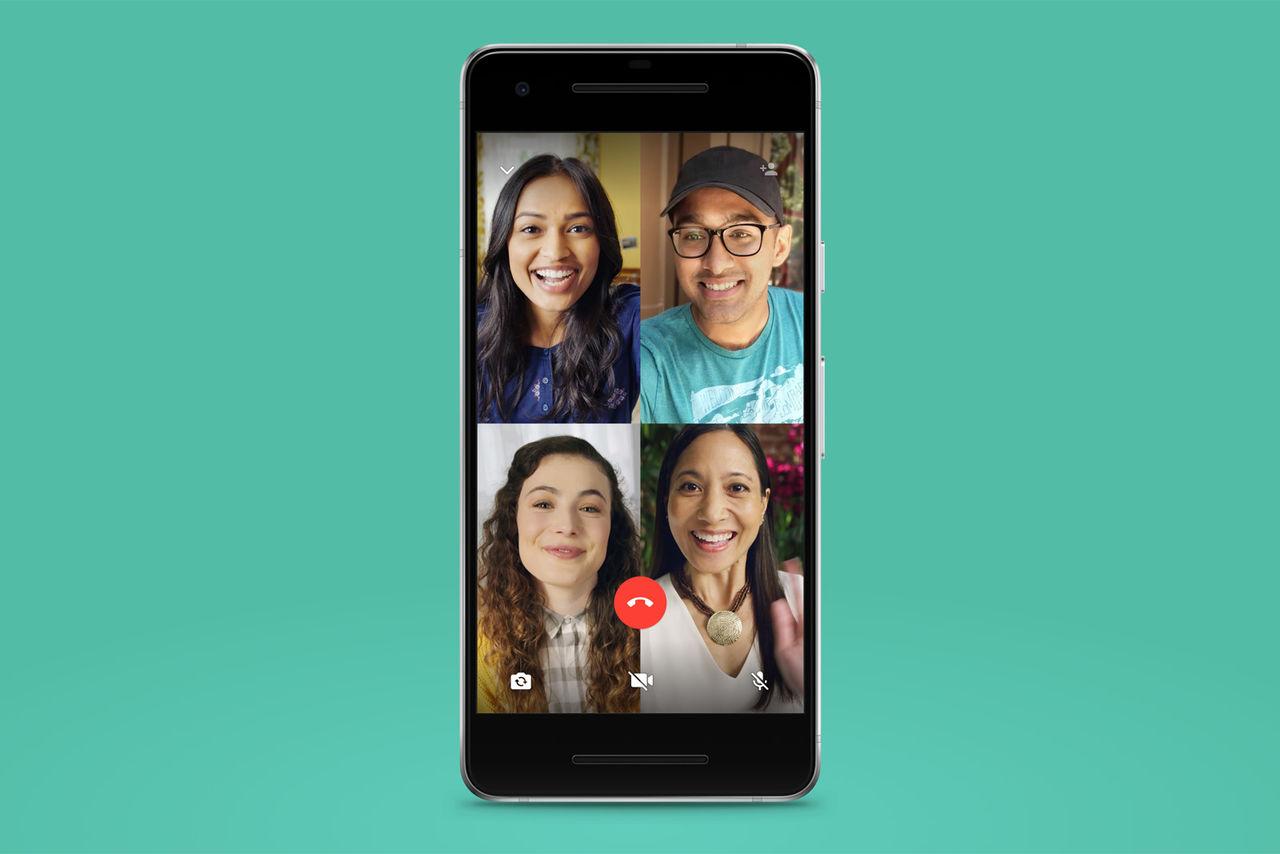Videosamtal med fyra personer kommer till WhatsApp