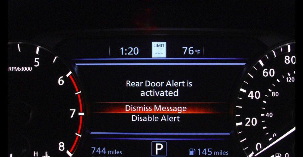 Nissan vill att du ska kolla baksätet när du lämnar bilen