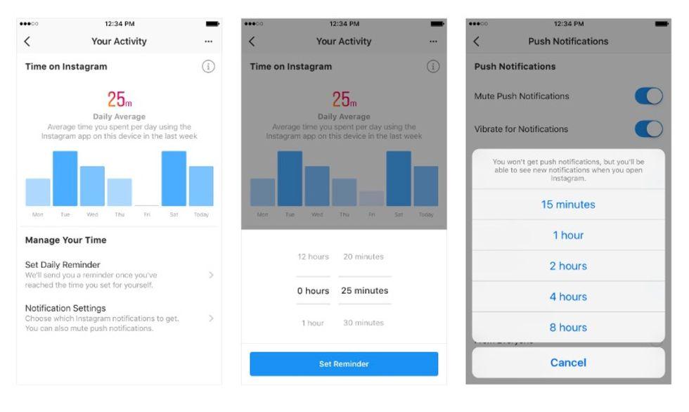 Facebook och Instagram släpper skärmtidsverktyg