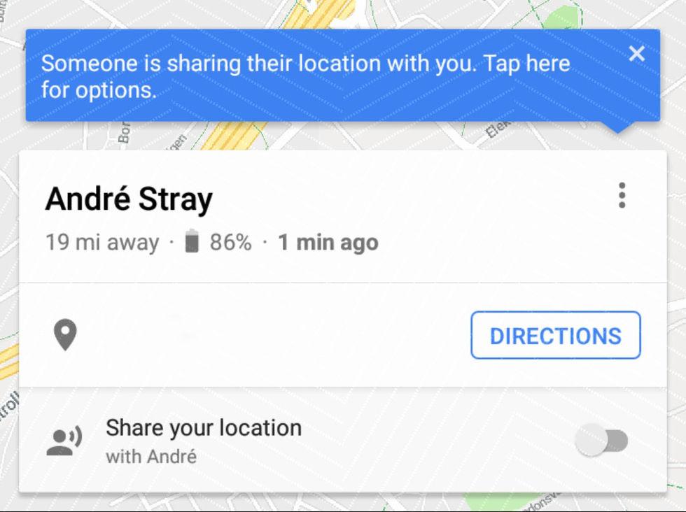 Delningsfunktion i Google Maps visar nu batterimängd