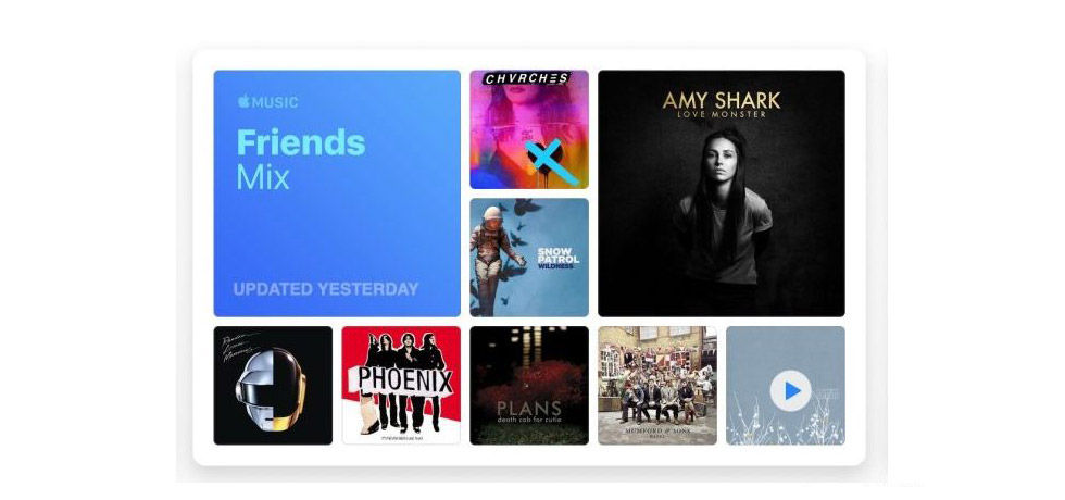 Apple Music lanserar Friends Mix