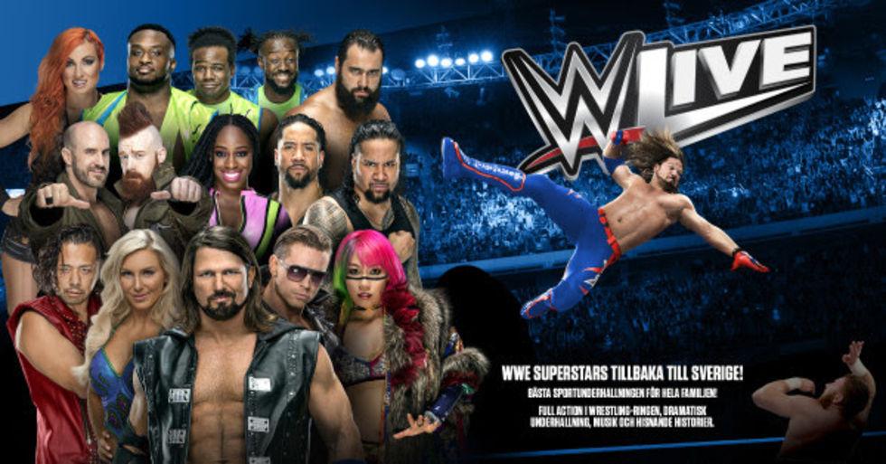 WWE Live i Stockholm flyttas till våren