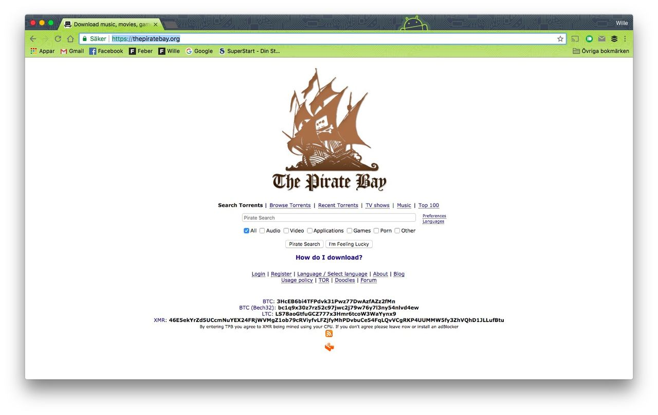 Tut i luren - The Pirate Bay fyller moppe