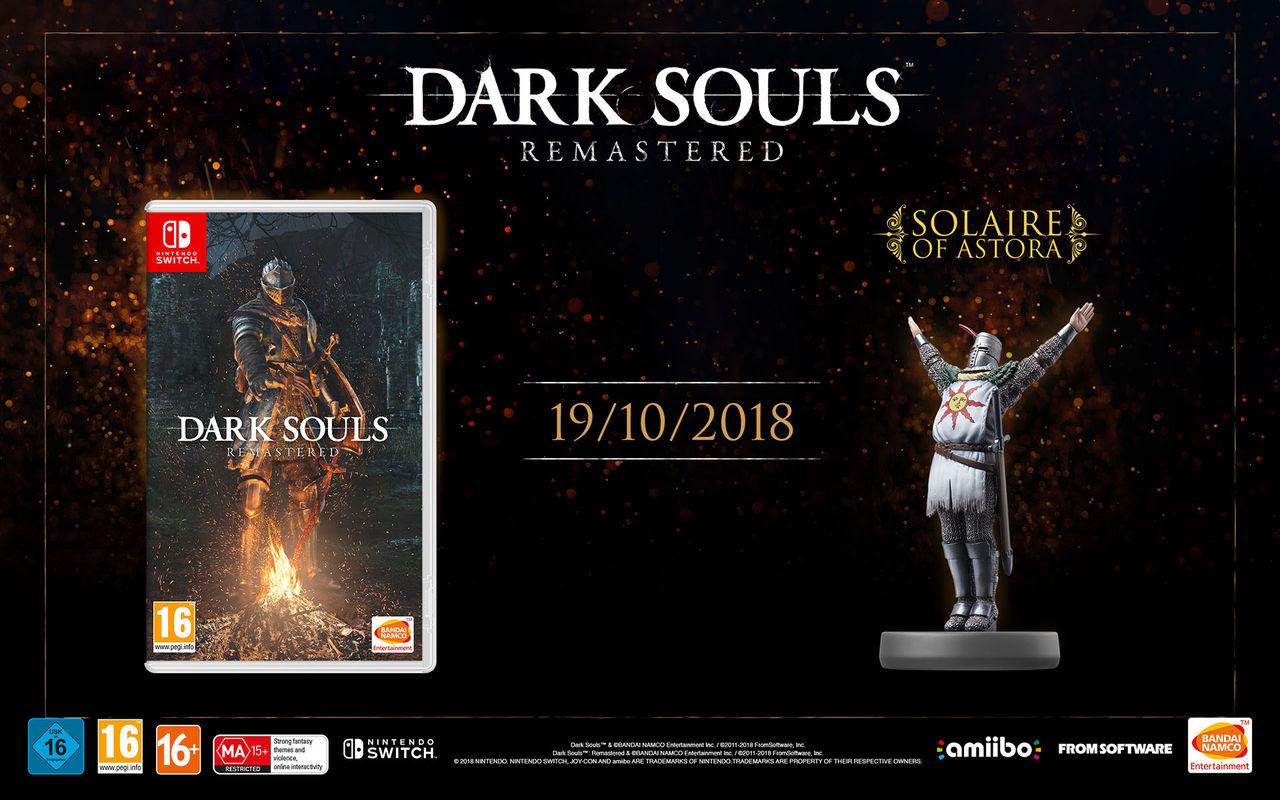 Dark Souls Remastered till Switch släpps 19 oktober