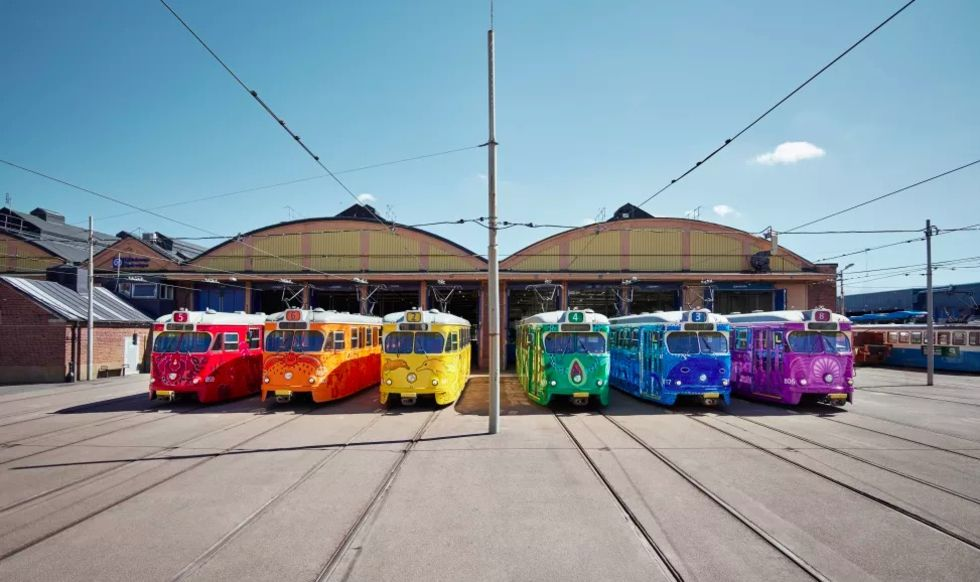Göteborgs spårvagnar firar EuroPride