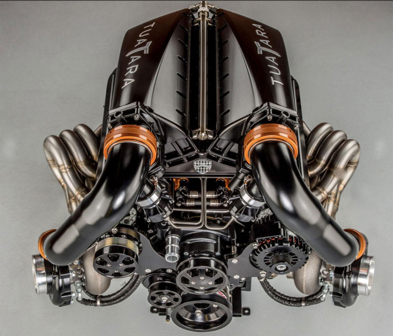 Det här är motorn till SSC Tuatara