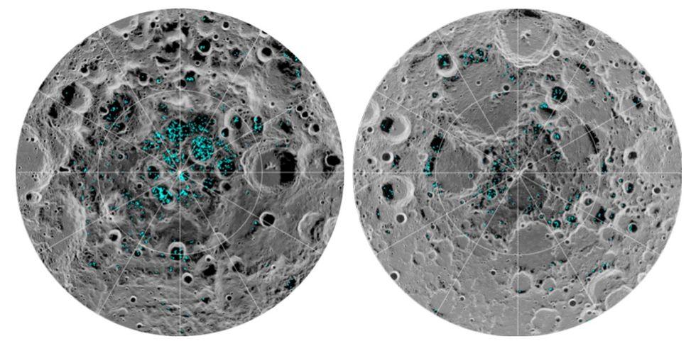 NASA bekräftar att det finns is på månen
