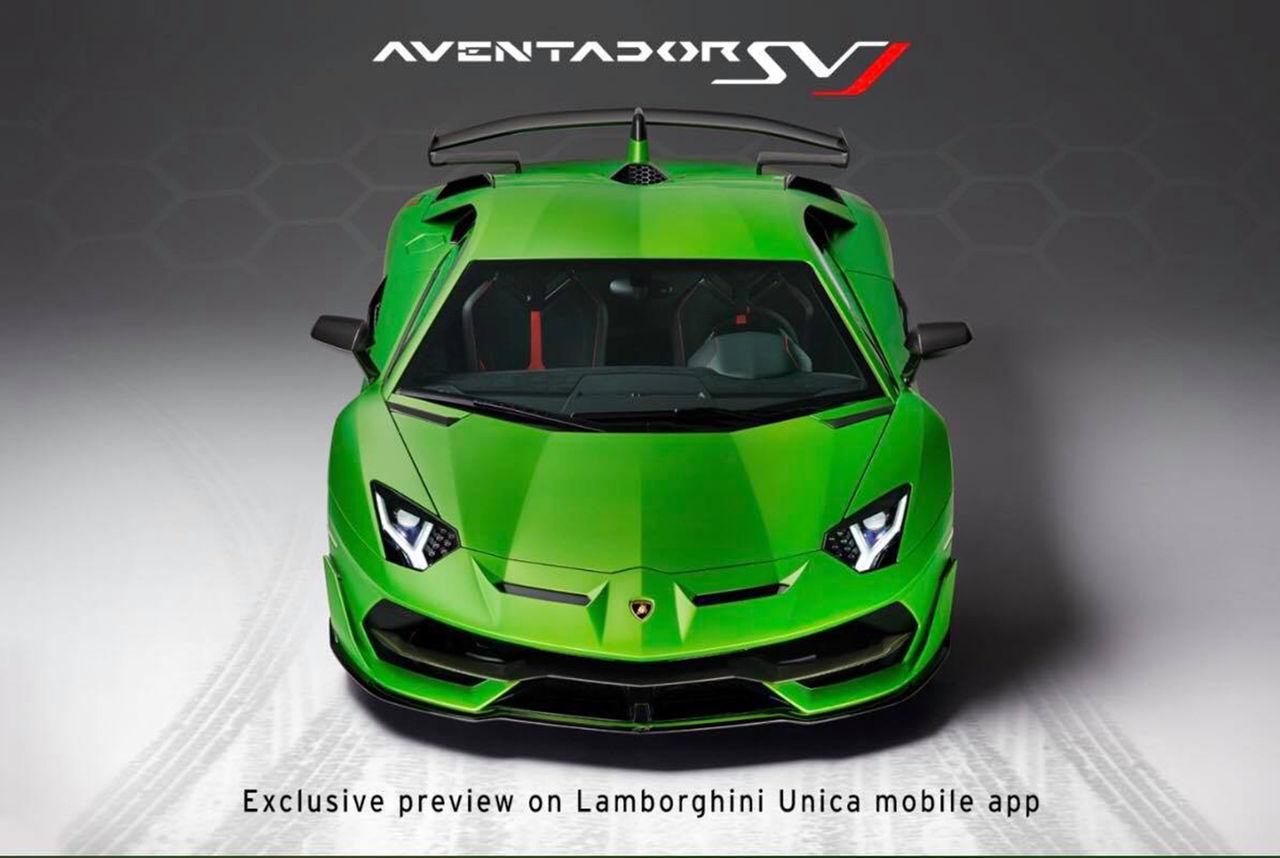 Första bilden på Lamborghini Aventador SVJ
