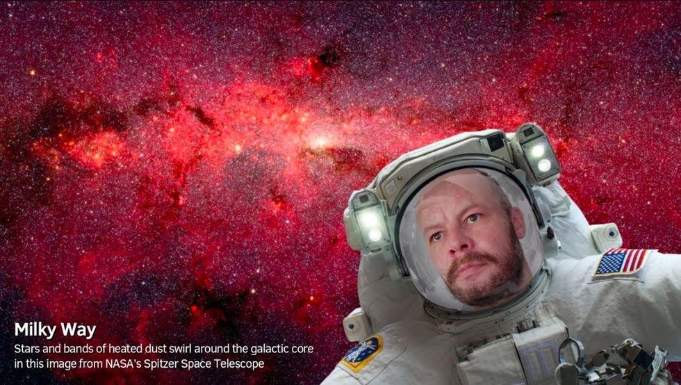 Ta en selfie i rymden