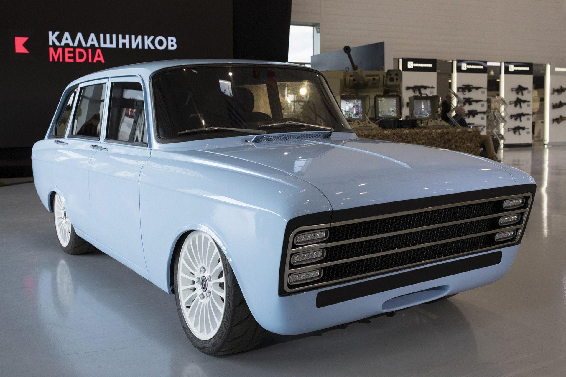 Kalashnikov har tagit fram en elbil
